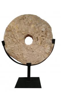 Pieza Piedra antigua redonda