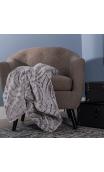 Manta sofá Negro-Crema