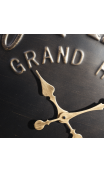 Reloj negro-oro metal