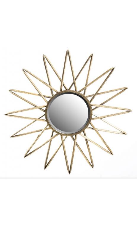 Espejo oro metal envejecido 81x81