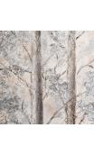 Cuadro Árboles Blanco-Marrón 100x4x100 cm