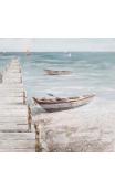 Pintura Muelle Azul-Crema 100x4x100 cm