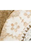 Mural Flores Beige-Blanco 60x4x122 cm