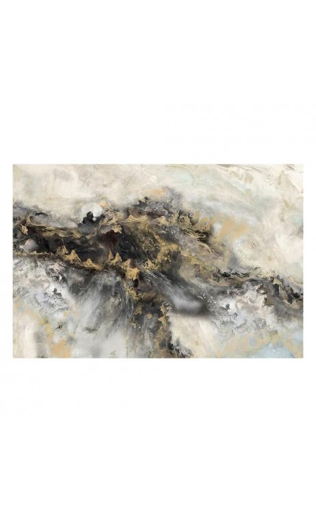 Cuadro Abstracto Negro-Gris 120x2,80x90 cm
