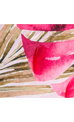 Cuadro Hojas Multicolor 65,00x4,30x92,50 cm