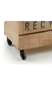 Contenedor ruedas RECYCLE natural