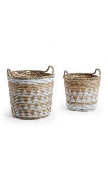 Set de 2 cestas AJAM jacinto de agua blanco