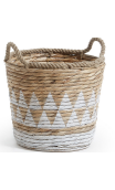 Set 2 cestas AJAM jacinto blanco