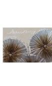 Cuadro Flores Plata Decorativo 60 x 150 cm