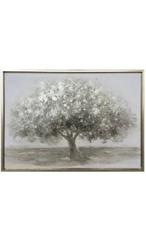 Cuadro Árbol Plata 105 x 75 cm
