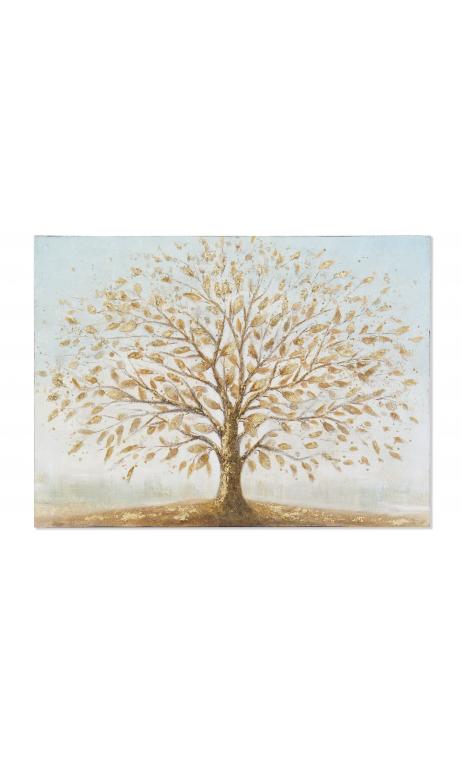 Cuadro Árbol dorado 120
