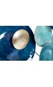 Cuadro Adorno METAL Azul