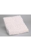 Manta blanca diseño Rosas