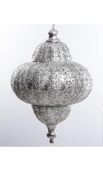 Lámpara GRABADO plateada