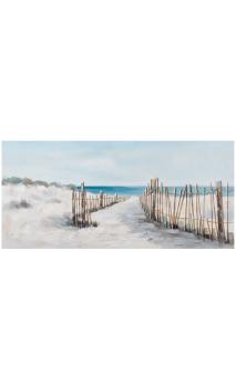 Cuadro Playa Crema Azul 150