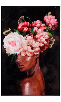 Cuadro Impresión Mujer Flores 120