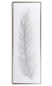 Cuadro Pluma Plata (B) 154 x 54 cm