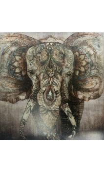 Cuadro elefante color