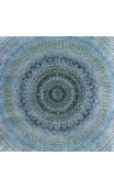 Cuadro Mandala azul-blanco