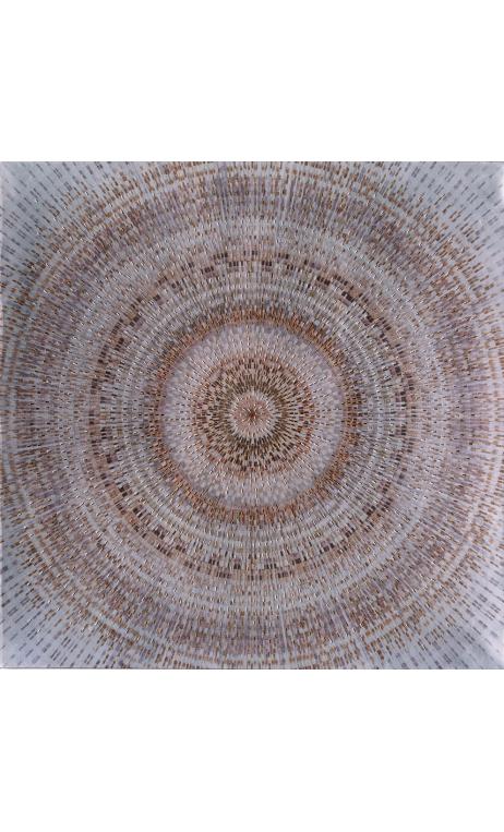 Cuadro Mandala azul-rojizo