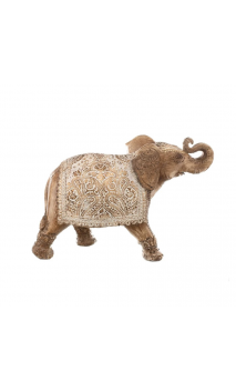 Figura ELEFANTE NATURAL 21 Blanco