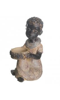 Figura NIÑA AFRICANA (A) CUENCO