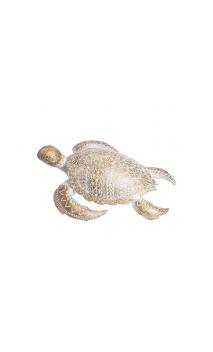 Figura TORTUGA MAR 36 oro-blanco