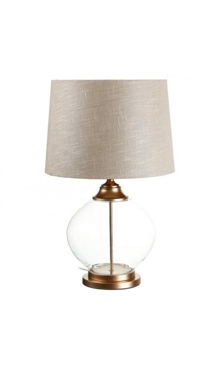 Lámpara GLOBO sobre mesa cristal