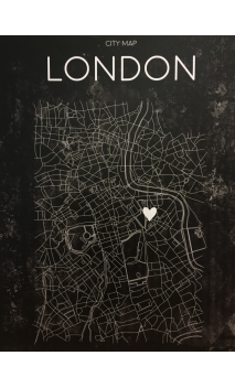 Cuadro Mapa LONDRES LEDS 113