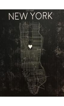 Cuadro Mapa NEW YORK LEDS 113
