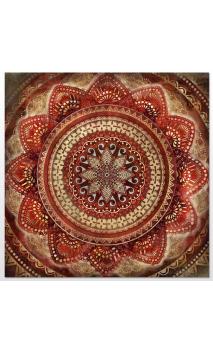 Cuadro Mandala Rojo 79