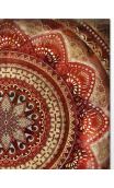 Cuadro Mandala Rojo 79,5x79,5 cm