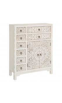 Mueble blanco rozado Multicajón 73