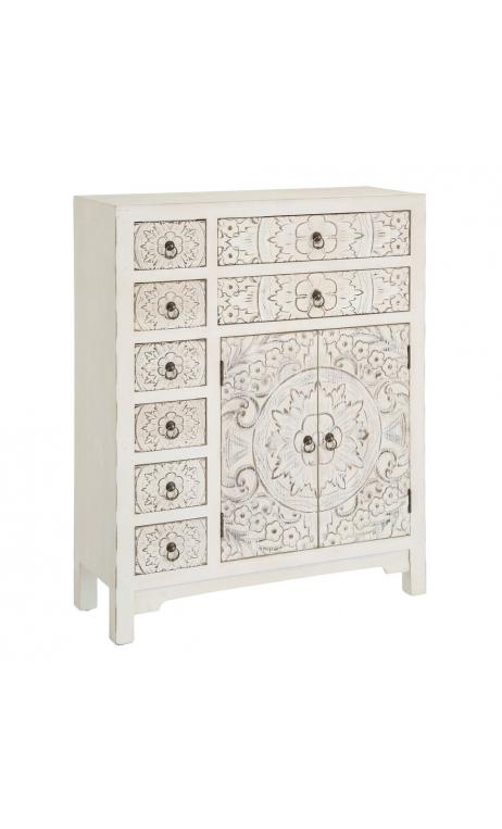Comprar mueble blanco rozado multicajón 73 online mobiliario