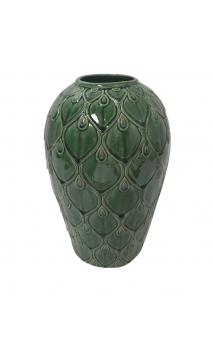 Jarrón Verde cerámica