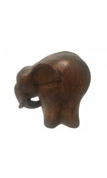 Figura Elefante OVAL 20 Marron
