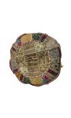 Pouf Ètnico Beige bordado 60x60x30 cm