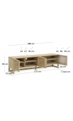 Mueble tv PIANA 180x50 cms