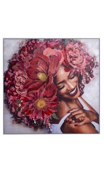 Cuadro mujer HAIR FLOWER 100