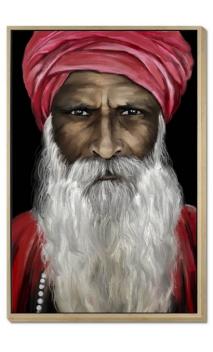 Cuadro hombre INDÚ Rojo 120