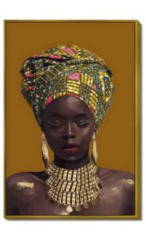 Cuadro mujer AFRICANA TURBANTE 120