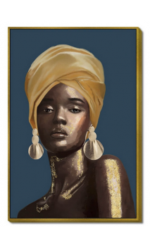 Cuadro mujer AFRICANA PENDIENTES 120