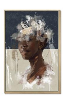 Cuadro mujer AFRICANA B POST 120